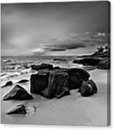 Chris's Rock 2013 Black And White Canvas Print