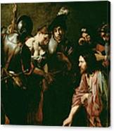 Christ And The Adulteress Canvas Print