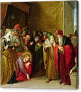 Christ And The Woman Taken In Adultery Canvas Print