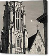Christ Church Cathedral And Moon Canvas Print