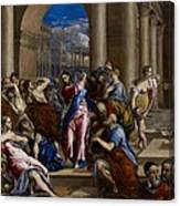 Christ Driving The Money Changers From The Temple Canvas Print