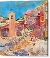 Christ In The Desert Monastery Canvas Print