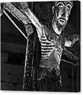Christ Of Salardu - Bw Canvas Print