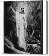 Christ Preaching To The Spirits In Prison C. 1910 Canvas Print