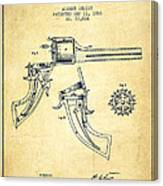 Christ Revolver Patent Drawing From 1866 - Vintage Canvas Print