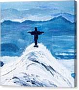 Christ Statue In Rio In Blue Canvas Print