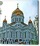 Christ The Savior Cathedral In Moscow-russia Canvas Print