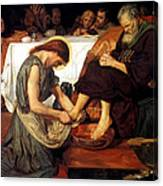 Christ Washing Peter's Feet Canvas Print