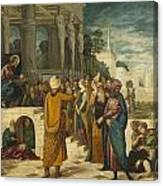 Christ With The Adulterous Woman Canvas Print