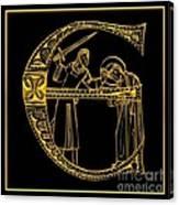 Christian Initial Letter E Canvas Print