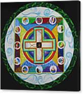 Christian Sand Mandala Canvas Print