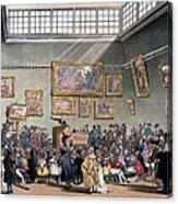 Christies Auction Room, Illustration Canvas Print