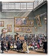 Christies Auction Room, Illustration Canvas Print