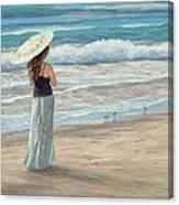 Christina With Parasol Canvas Print