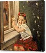 Christine By The Window - 1945 Canvas Print