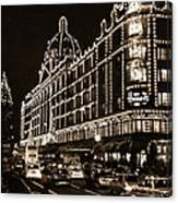 Christmas At Harrods Department Store - London Canvas Print