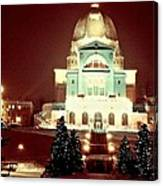 Christmas At St. Joseph's Oratory Canvas Print