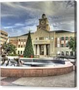 Christmas At Sugar Land City Hall Canvas Print