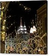 Christmas At Temple Square 11 Canvas Print