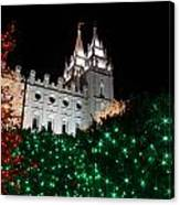 Christmas At Temple Square 12 Canvas Print