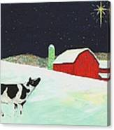 Christmas At The Barn Canvas Print