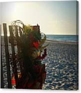Christmas At The Beach Canvas Print
