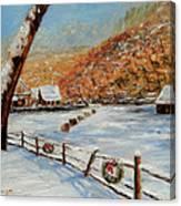 Christmas At The Cuttalossa Canvas Print