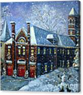 Christmas At The Fire House Canvas Print