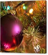 Christmas Ball Ornament Purple 1 Canvas Print