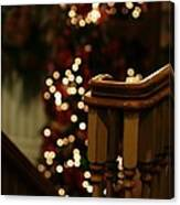 Christmas Banister 1 Canvas Print
