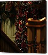 Christmas Banister 2 Canvas Print