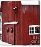 Christmas Barn 3 Canvas Print