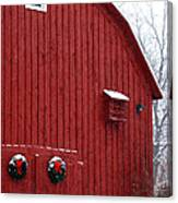 Christmas Barn 4 Canvas Print