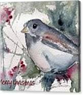 Christmas Birds 01 Canvas Print