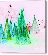 Christmas Blues And Greens Canvas Print