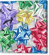 Christmas Bows Canvas Print