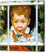 Christmas Boy Canvas Print