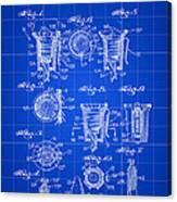 Christmas Bulb Socket Patent 1936 - Blue Canvas Print