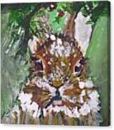 Christmas Bunny Canvas Print