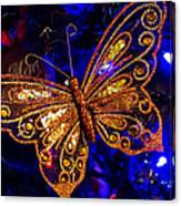 Christmas Butterfly Canvas Print
