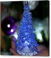 A Christmas Crystal Tree In Blue Canvas Print