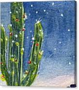 Christmas Cactus Canvas Print