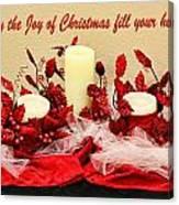 Christmas  Candels Canvas Print