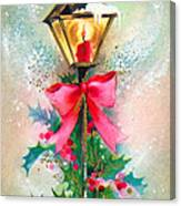 Christmas Candle Canvas Print