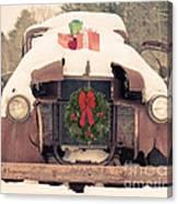 Christmas Car Card Canvas Print