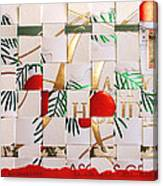 Christmas Card Abstract Canvas Print