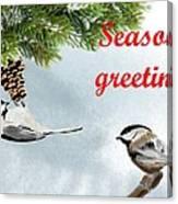 Christmas Card Canvas Print