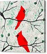 Christmas Cardinals II Canvas Print