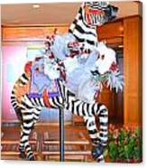 Christmas Carousel Zebra Canvas Print