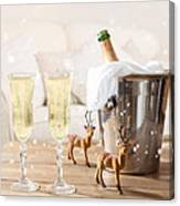 Christmas Champagne Canvas Print